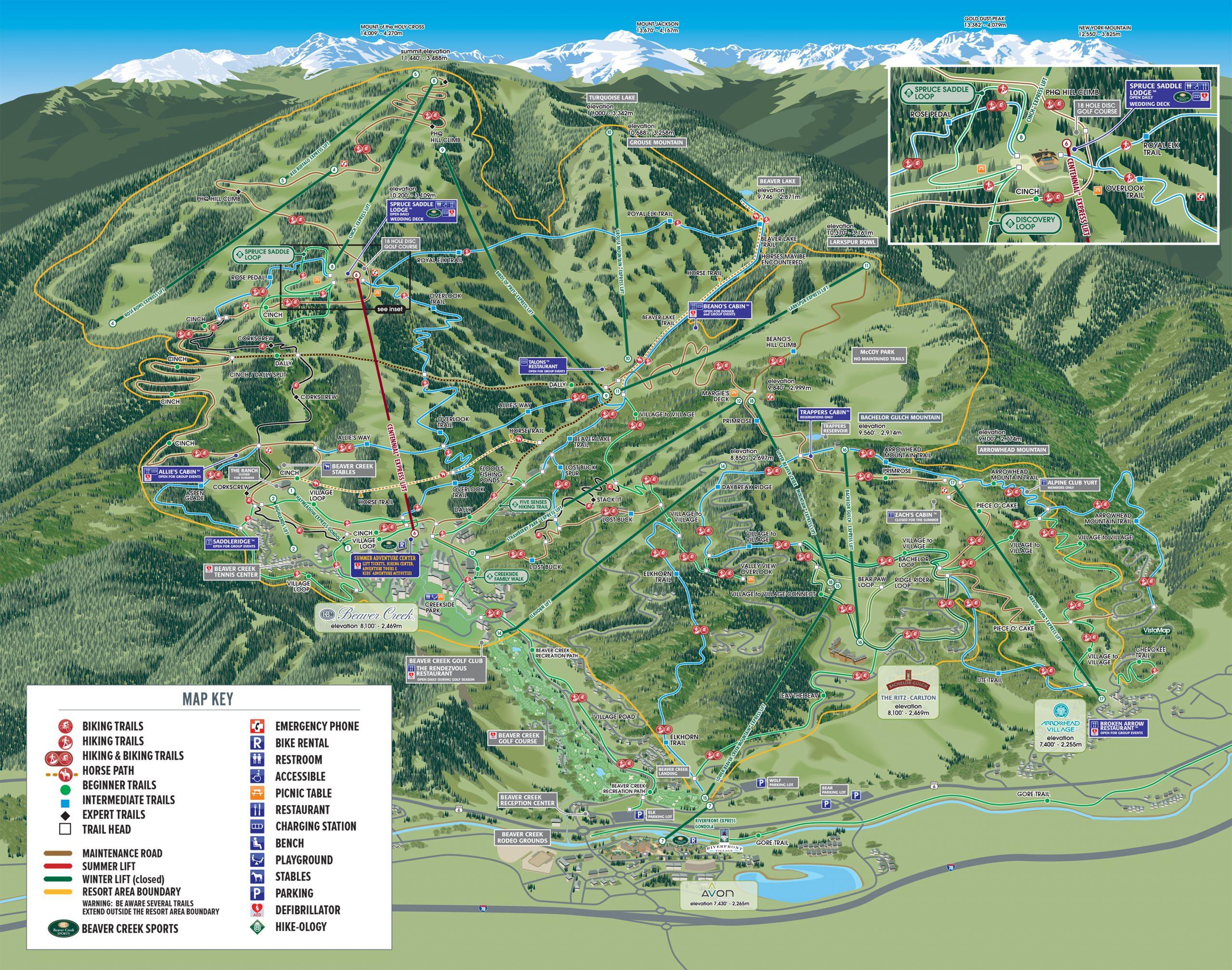 ARROWHEAD WINTER MAP